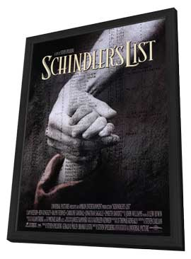 Schindler's List - 27 x 40 Movie Poster - Style A - in Deluxe Wood Frame