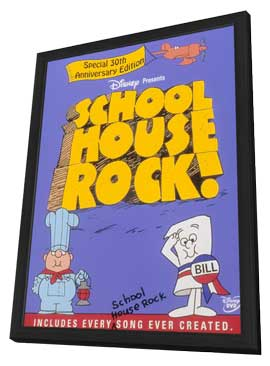 Schoolhouse Rock! - 27 x 40 Movie Poster - Style A - in Deluxe Wood Frame
