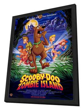 Scooby-Doo on Zombie Island - 27 x 40 Movie Poster - Style A - in Deluxe Wood Frame