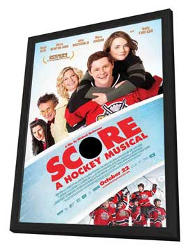 Score: A Hockey Musical - 27 x 40 Movie Poster - Style B - in Deluxe Wood Frame
