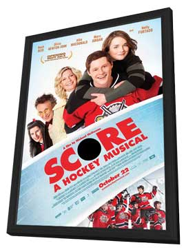 Score: A Hockey Musical - 11 x 17 Movie Poster - Style B - in Deluxe Wood Frame