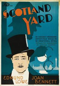 Scotland Yard - 11 x 17 Movie Poster - Swedish Style A