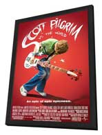 Scott Pilgrim vs the World - 11 x 17 Movie Poster - Style M - in Deluxe Wood Frame