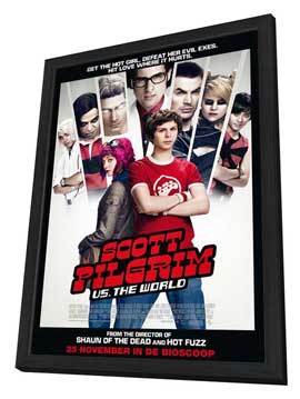 Scott Pilgrim vs the World - 27 x 40 Movie Poster - Dutch Style A - in Deluxe Wood Frame