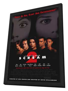 Scream 2 - 11 x 17 Movie Poster - Style A - in Deluxe Wood Frame