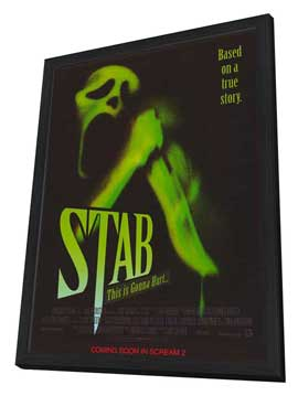 Scream 2 - 11 x 17 Movie Poster - Style B - in Deluxe Wood Frame