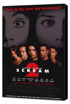 Scream 2 - 27 x 40 Movie Poster - Style A - Museum Wrapped Canvas