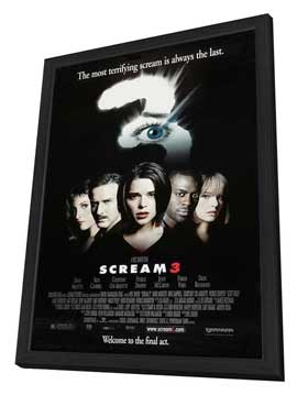 Scream 3 - 27 x 40 Movie Poster - Style B - in Deluxe Wood Frame
