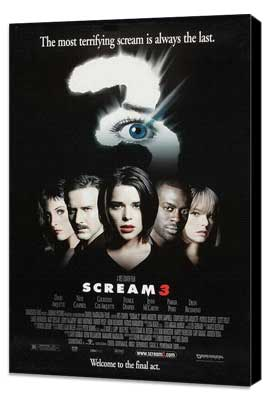 Scream 3 - 11 x 17 Movie Poster - Style A - Museum Wrapped Canvas
