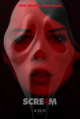 Scream 4 - 11 x 17 Movie Poster - Style D