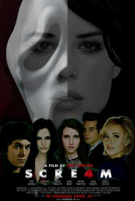 Scream 4 - 11 x 17 Movie Poster - Style G