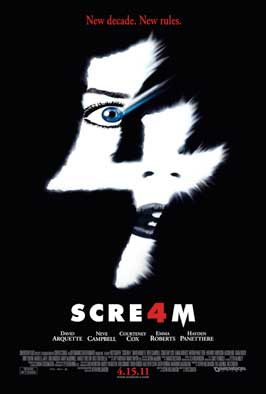 Scream 4 - 43 x 62 Movie Poster - Bus Shelter Style A