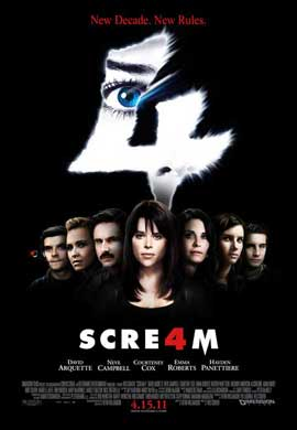 Scream 4 - 11 x 17 Movie Poster - Style K