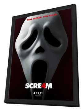 Scream 4 - 11 x 17 Movie Poster - Style A - in Deluxe Wood Frame