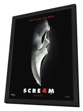 Scream 4 - 11 x 17 Movie Poster - Style J - in Deluxe Wood Frame