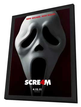 Scream 4 - 27 x 40 Movie Poster - Style A - in Deluxe Wood Frame