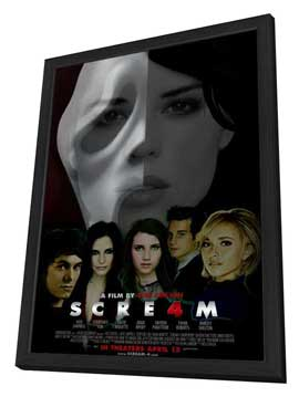 Scream 4 - 27 x 40 Movie Poster - Style B - in Deluxe Wood Frame