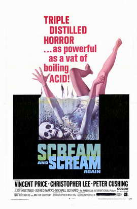 Scream and Scream Again - 11 x 17 Movie Poster - Style A