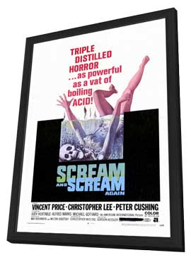 Scream and Scream Again - 11 x 17 Movie Poster - Style A - in Deluxe Wood Frame
