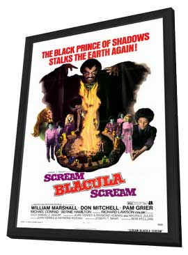 Scream Blacula Scream - 11 x 17 Movie Poster - Style A - in Deluxe Wood Frame