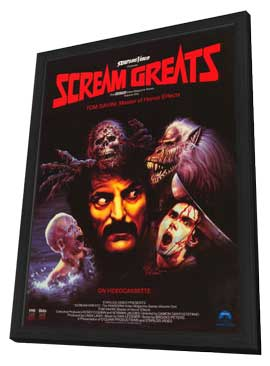 Scream Greats, Vol. 1: Tom Savini, Master of Horror Effects - 11 x 17 Movie Poster - Style A - in Deluxe Wood Frame