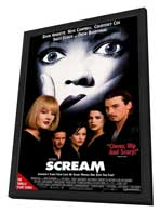 Scream - 27 x 40 Movie Poster - Style A - in Deluxe Wood Frame