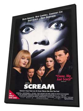 Scream - 11 x 17 Movie Poster - Style A - in Deluxe Wood Frame