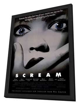 Scream - 11 x 17 Movie Poster - Style B - in Deluxe Wood Frame
