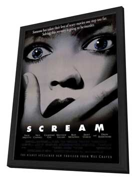 Scream - 27 x 40 Movie Poster - Style B - in Deluxe Wood Frame