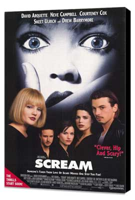 Scream - 11 x 17 Movie Poster - Style A - Museum Wrapped Canvas