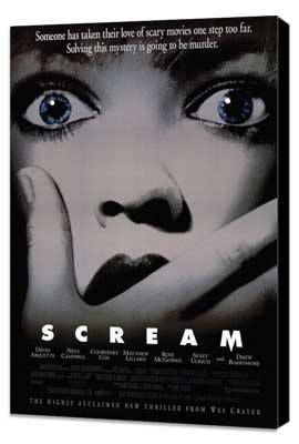 Scream - 27 x 40 Movie Poster - Style B - Museum Wrapped Canvas