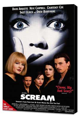 Scream - 27 x 40 Movie Poster - Style A - Museum Wrapped Canvas