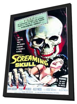 The Screaming Skull - 11 x 17 Movie Poster - Style A - in Deluxe Wood Frame