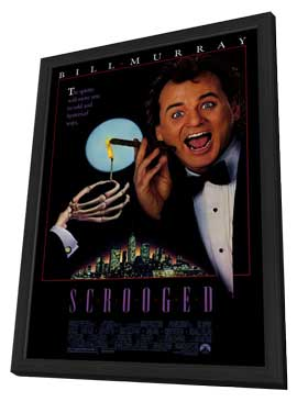 Scrooged - 27 x 40 Movie Poster - Style A - in Deluxe Wood Frame