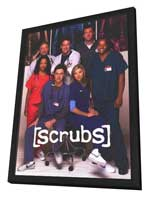 Scrubs (TV) - 11 x 17 TV Poster - Style A - in Deluxe Wood Frame