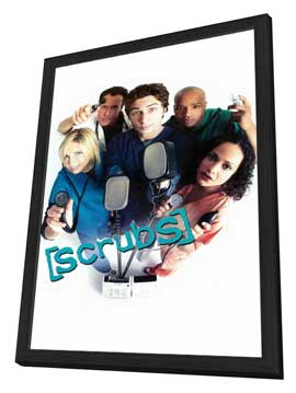 Scrubs (TV) - 11 x 17 TV Poster - Style B - in Deluxe Wood Frame