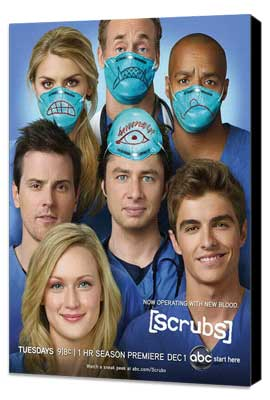 Scrubs (TV) - 11 x 17 TV Poster - Style D - Museum Wrapped Canvas