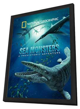 Sea Monsters: A Prehistoric Adventure - 27 x 40 Movie Poster - Style A - in Deluxe Wood Frame