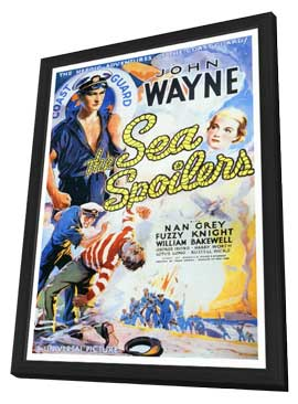 Sea Spoilers - 27 x 40 Movie Poster - Style A - in Deluxe Wood Frame