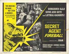 Secret Agent Fireball - 11 x 14 Movie Poster - Style C