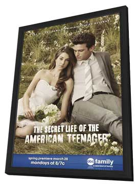 Secret Life of the American Teenager, The (TV) - 11 x 17 TV Poster - Style B - in Deluxe Wood Frame