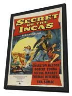 Secret of the Incas - 11 x 17 Movie Poster - Style A - in Deluxe Wood Frame