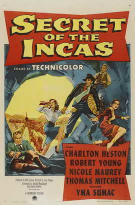 Secret of the Incas - 11 x 17 Movie Poster - Style A