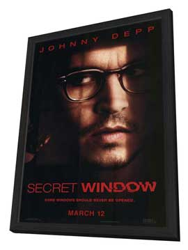 Secret Window - 11 x 17 Movie Poster - Style A - in Deluxe Wood Frame