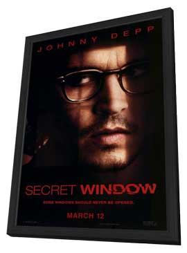 Secret Window - 27 x 40 Movie Poster - Style A - in Deluxe Wood Frame