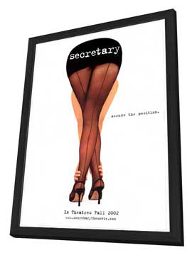 Secretary - 27 x 40 Movie Poster - Style A - in Deluxe Wood Frame