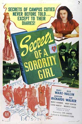 Secrets of a Sorority Girl - 11 x 17 Movie Poster - Style A