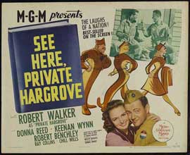 See Here, Private Hargrove - 22 x 28 Movie Poster - Half Sheet Style A