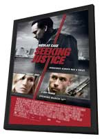 Seeking Justice - 27 x 40 Movie Poster - Style A - in Deluxe Wood Frame
