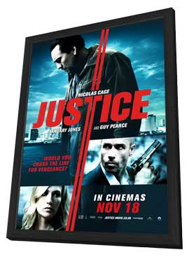 Seeking Justice - 11 x 17 Movie Poster - Style B - in Deluxe Wood Frame